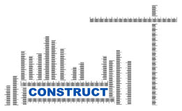 Construct title with ruler measures Stock Images