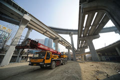 Construct viaduct. Construct new  viaduct  in Chengdu,China Stock Image