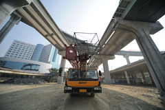 Construct viaduct. Construct new  viaduct  in Chengdu,China Stock Images
