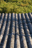 Constructed Roof Material Asbestos. Roof insulation built with asbestos fibrous material prohibited by their carcinogenic effects Royalty Free Stock Photography