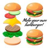 Constructeur d'hamburger Images libres de droits