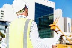 Constructeur d'ingénieur au chantier de construction Photo libre de droits