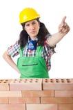 Constructeur de femme Image stock