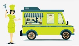 Constructeur de nourriture mobile Photo stock