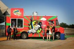 Constructeur de nourriture mobile Images libres de droits