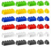 Constructeur de plastique d'enfants Image libre de droits