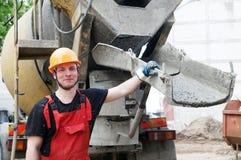 Constructeur et béton de construction Photos libres de droits