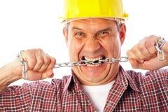 Constructeur fâché Image stock