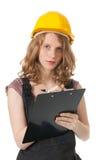 Constructeur femelle Photos stock