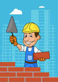 constructeur gai illustration libre de droits