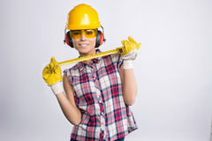 Constructeur Girl Photographie stock