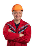 Constructeur heureux Photo stock
