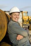 Constructeur heureux Photo stock