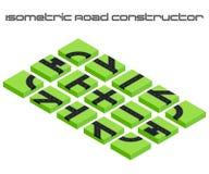 Constructeur isométrique de routes de vecteur Photographie stock libre de droits