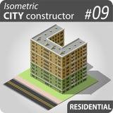 Constructeur isométrique de ville - 09 Photos stock