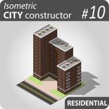 Constructeur isométrique de ville - 10 Photos stock