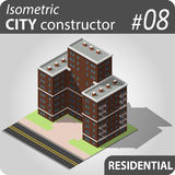 Constructeur isométrique de ville - 08 Photographie stock