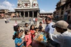 Constructeur Népal de crême glacée Photographie stock