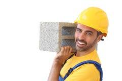 Constructeur ou maçon sûr image libre de droits