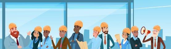 Constructeur Team Architect Mix Race Workers illustration libre de droits