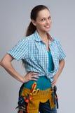 Constructeur Woman Photos stock