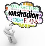 Constructeur Words Thought Cloud Thi de code d'autorisation de permis de construction Image libre de droits