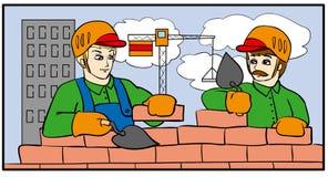 Constructeurs illustration de vecteur