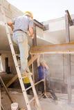 Constructeurs au travail Images stock