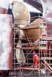 Constructeurs de navires des travaux Photos stock