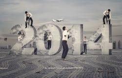 Constructeurs de nouvelle année Photographie stock