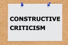 Constructief Kritiekconcept royalty-vrije stock afbeelding