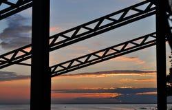 Constructieve zonsondergang Royalty-vrije Stock Foto's