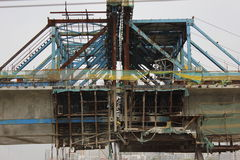 The constructing bridge Stock Images