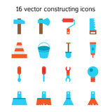 Constructing and building icons set Stock Photos