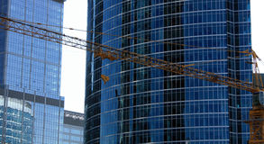 Constructing of buildings Royalty Free Stock Image