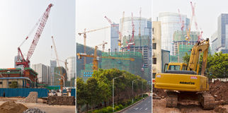Constructing Guangzhou Royalty Free Stock Photos