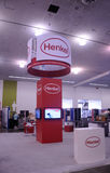 Constructing the Henkel Booth at SID 2015. The Henkel Booth being set up at the Society Of Information Displays (SID) 2015 in San Jose California Royalty Free Stock Photography