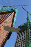 Constructing high-rise apartments Stock Photo
