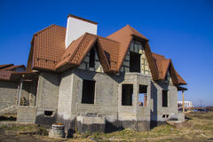 Constructing  house. Architecture Royalty Free Stock Image