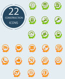 Constructing icons royalty free illustration