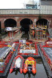 Constructing New South Entrance Leeds rail station Stock Images