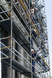 Constructing a scaffolding in Madrid Royalty Free Stock Image
