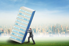 Constructing a skyscraper Royalty Free Stock Image