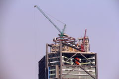 Constructing a skyscraper I Stock Images