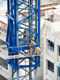 Constructing Tower Crane Extension Stock Image