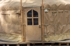 Constructing a yurt, called a ger Royalty Free Stock Photography