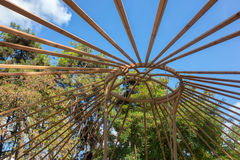 Constructing a yurt, called a ger Royalty Free Stock Images