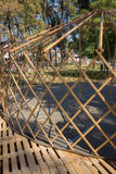 Constructing a yurt, called a ger Royalty Free Stock Image