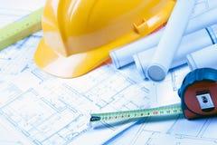 constructino计划 免版税库存照片