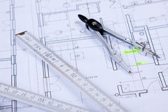 Constructino plans Royalty Free Stock Photo